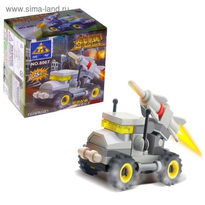 Конструктор 35 деталей Машина с ракетой