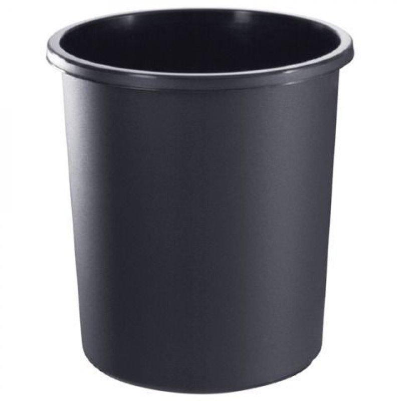 Корзина для бумаг 18л цельная черная