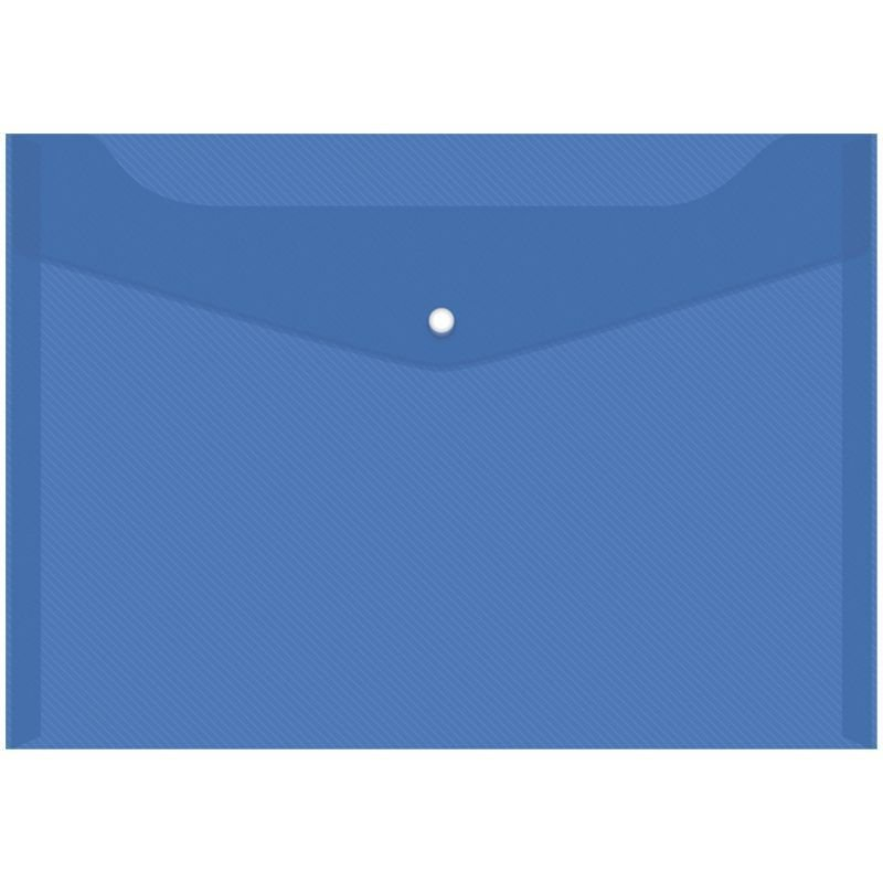 Папка-конверт с кнопкой А4 OfficeSpace 0,15мм синяя