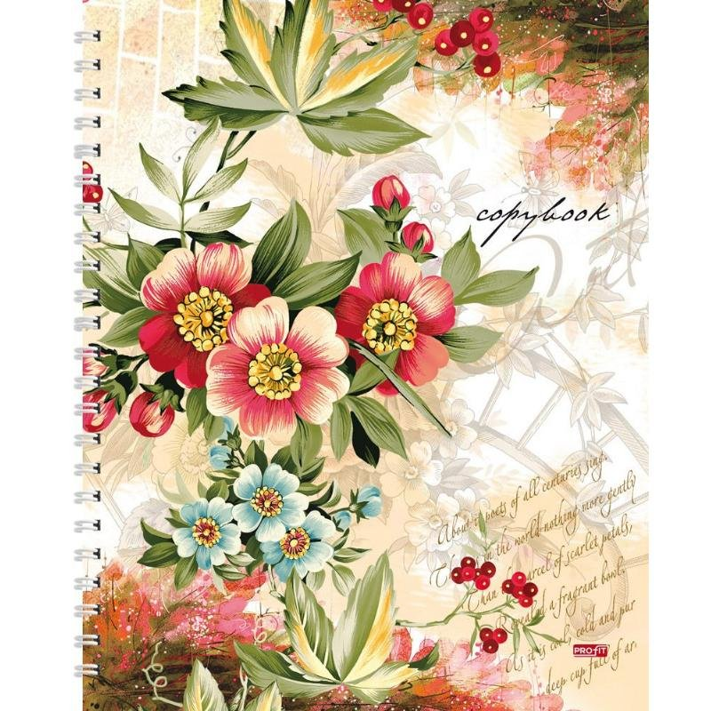 Тетрадь 96л Цветы и ягоды клетка гребень