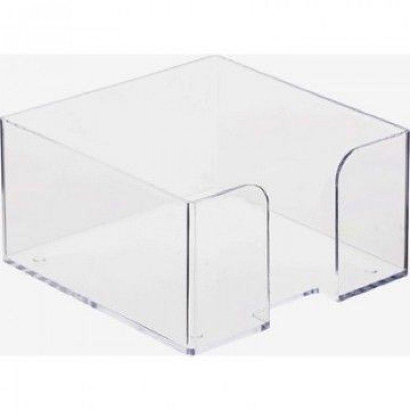 Бокс для бумаги 90х90х50мм Стамм прозрачный
