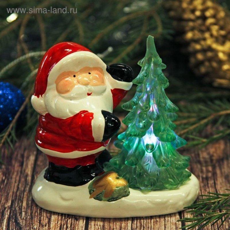 Сувенир Дед мороз у елочки световой