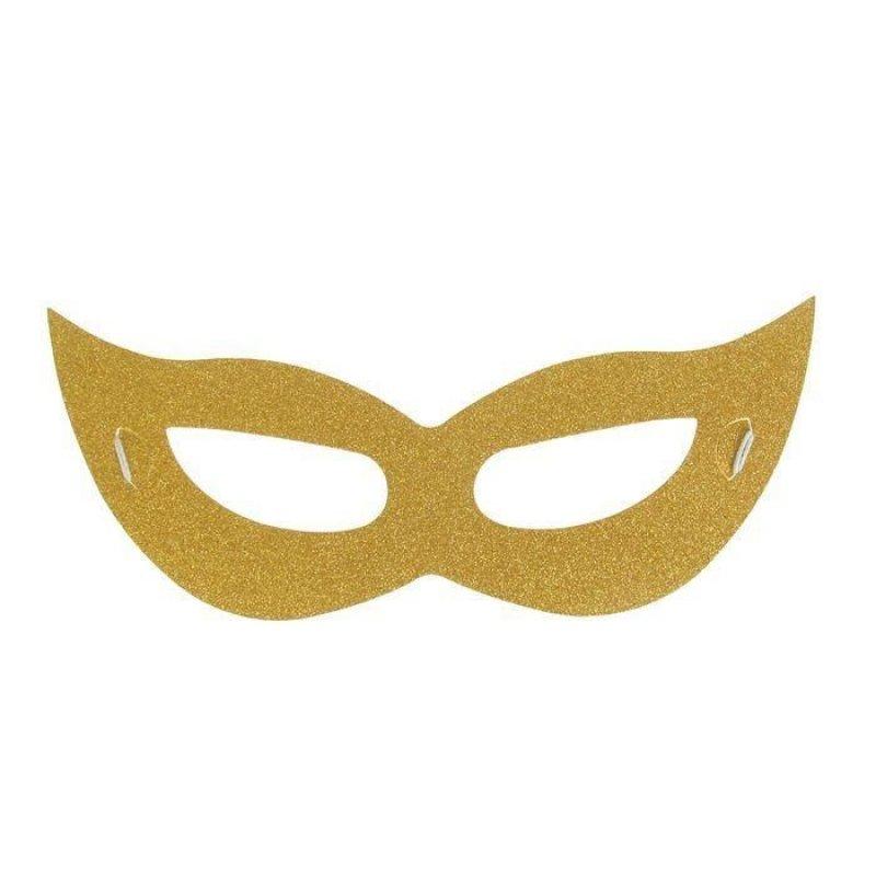 Карнавальная маска Незнакомка цвет золото