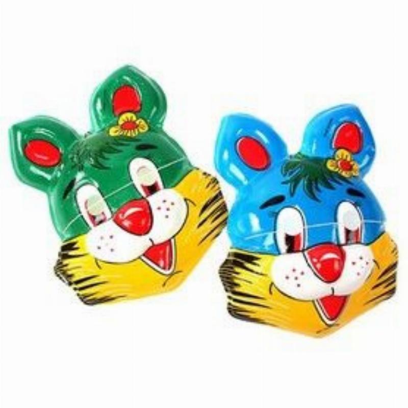 Карнавальная маска Заяц с цветочком цвета Микс