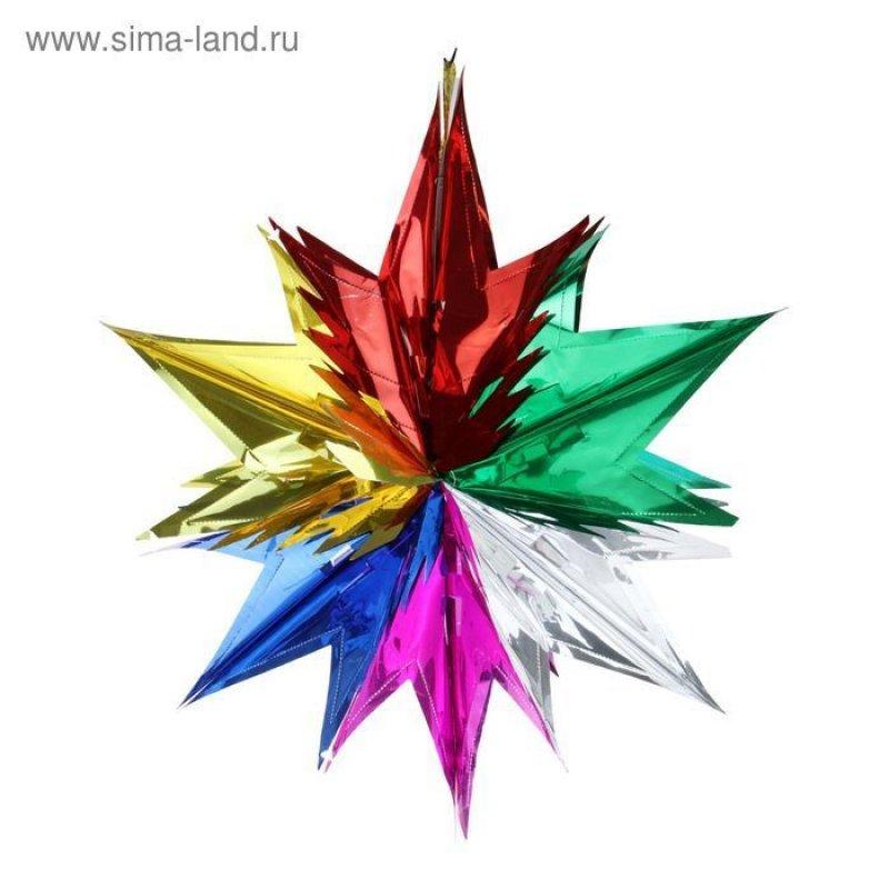 Новогоднее украшение Яркая звезда 30см