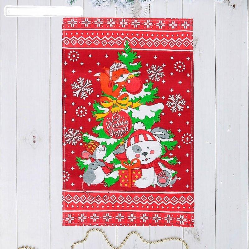 Полотенце кухонное 37х61см С Новым годом