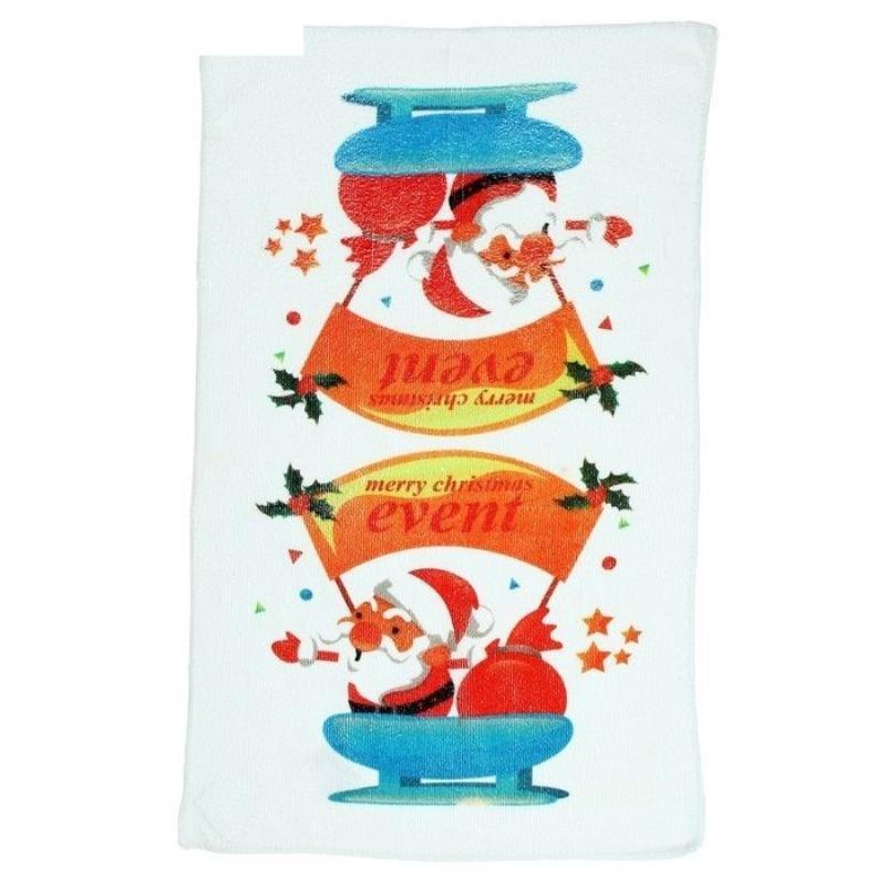 Полотенце кухонное 40х60см Новый год Сани