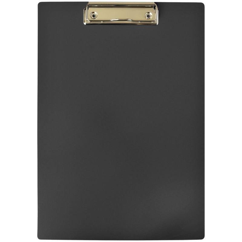 Папка-планшет c зажимом А4 OfficeSpace пластик черный