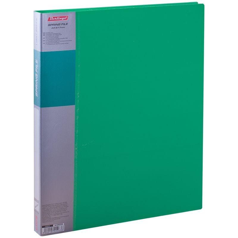 Папка-скоросшиватель с пружиной Berlingo Standart зеленая