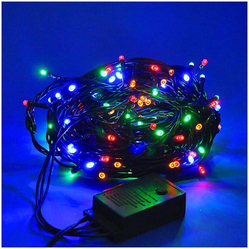 Гирлянда электрич 100ламп 4 цвета 4м Яркий праздник