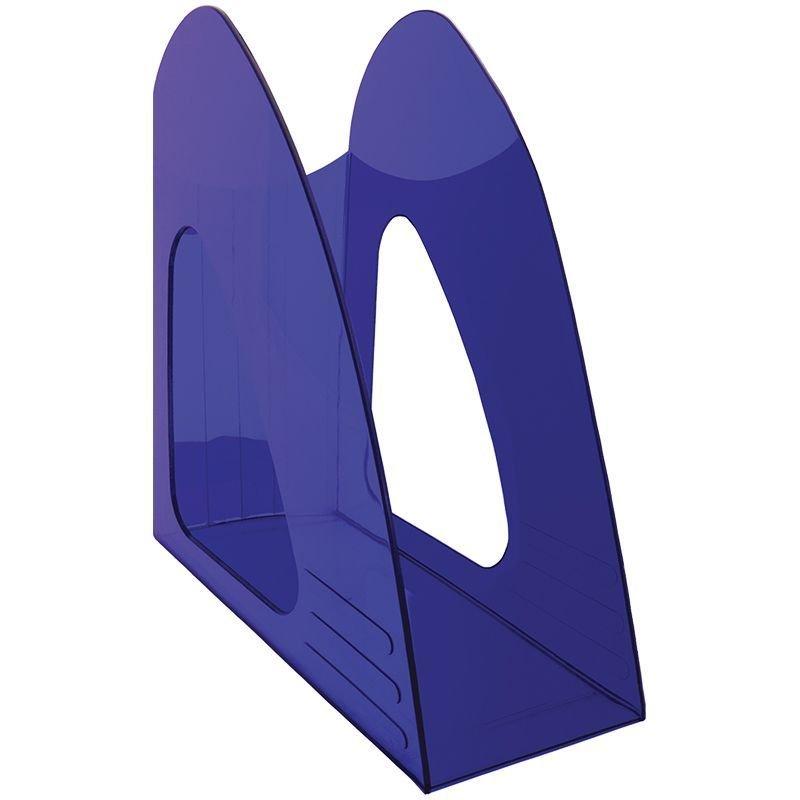 Стойка для бумаг Berlingo Mega Top тонированный синий