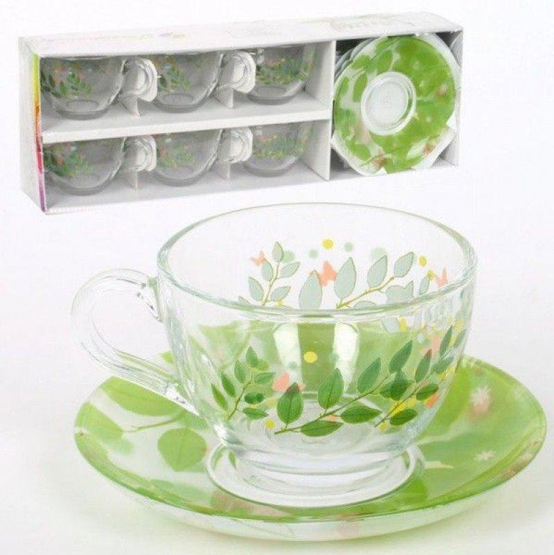 Набор чайный 220мл Batterflies 12пр Pasabahce стекло