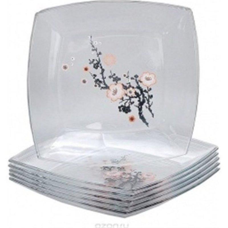 Набор тарелок 265мм Сакура 6шт Pasabahce стекло