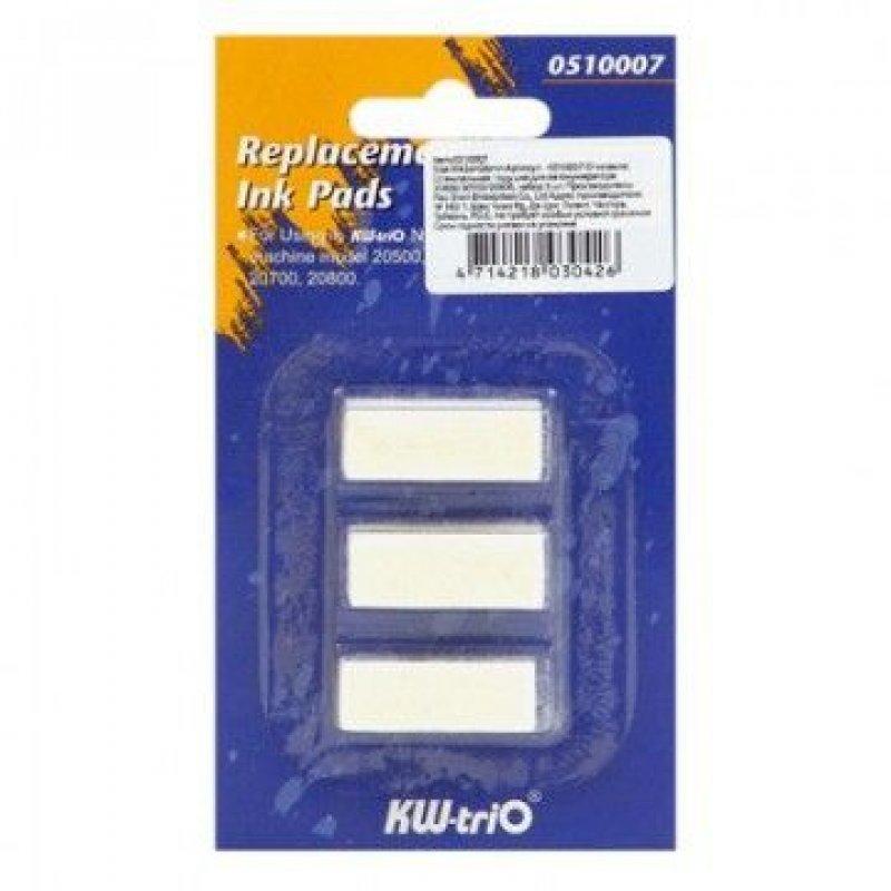 Подушка сменная KW-Trio бесцветная для автом нумераторов 3 шт/уп