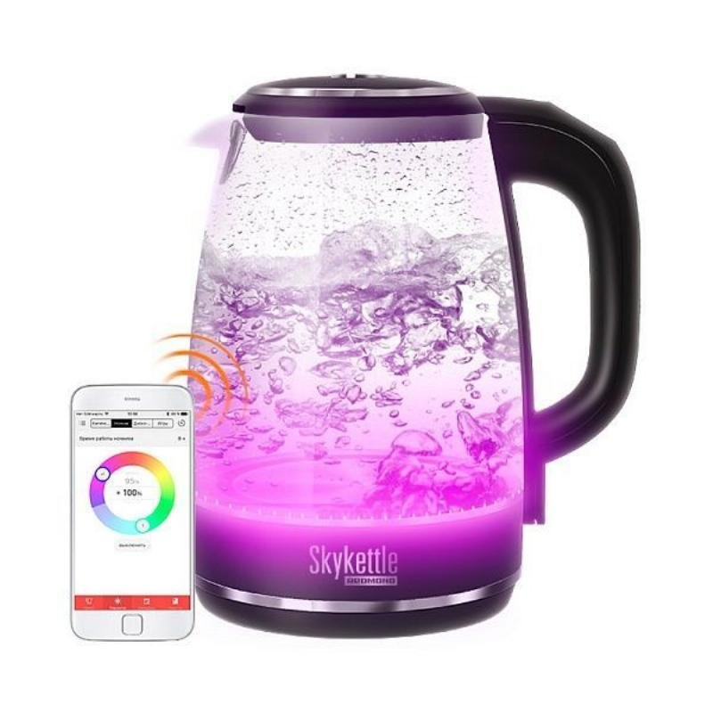 Чайник Redmond RK-G200S 2200Вт 2л стекло подсветка