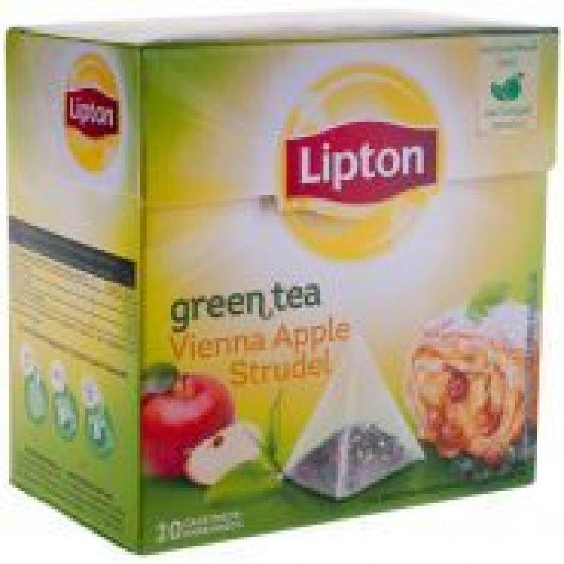 Чай Lipton Apple Strudel 20шт в пирамидках зеленый