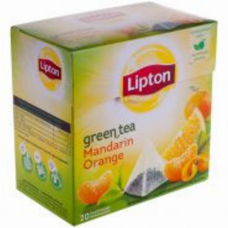 Чай Lipton Mandarin Orange 20шт в пирамидках зеленый