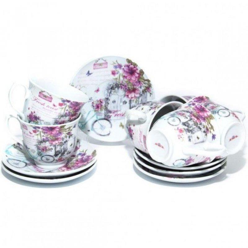 Набор чайный 220мл Прекрасный сад 12пр фарфор