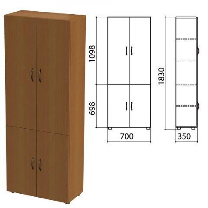 Шкаф закрытый Канц 700х350х1830мм орех