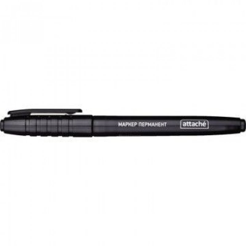 Маркер перманентный Attache 1,5-3мм круглый наконечник черный