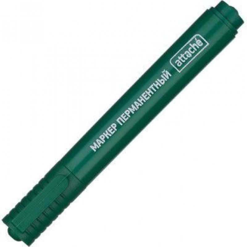 Маркер перманентный Attache 2-3мм круглый наконечник зеленый