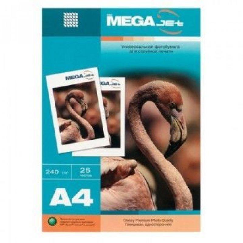 Бумага Megajet glossy premium A4 240г/м2 глянцевая 25л