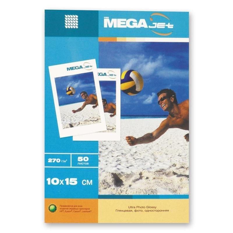 Фотобумага Megajet А6 270г/м2 50л односторонняя глянцевая