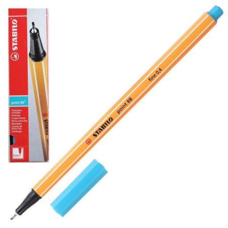 Ручка капилярная Stabilo Point 0,4мм голубовато-бирюзовая