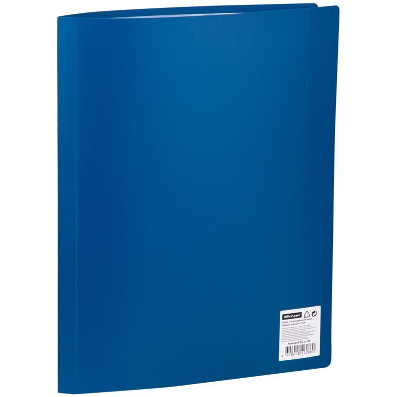 Папка 30 вкладышей OfficeSpace 0,4мм синяя