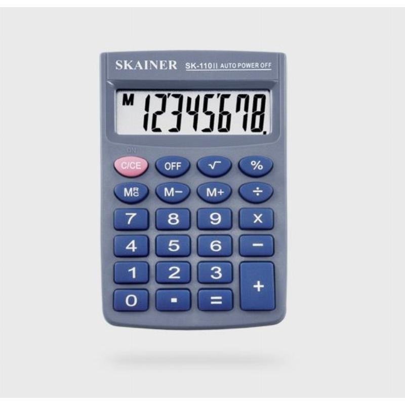 Калькулятор Skainer Electronic SH-110II 58х87мм 8 разр черный