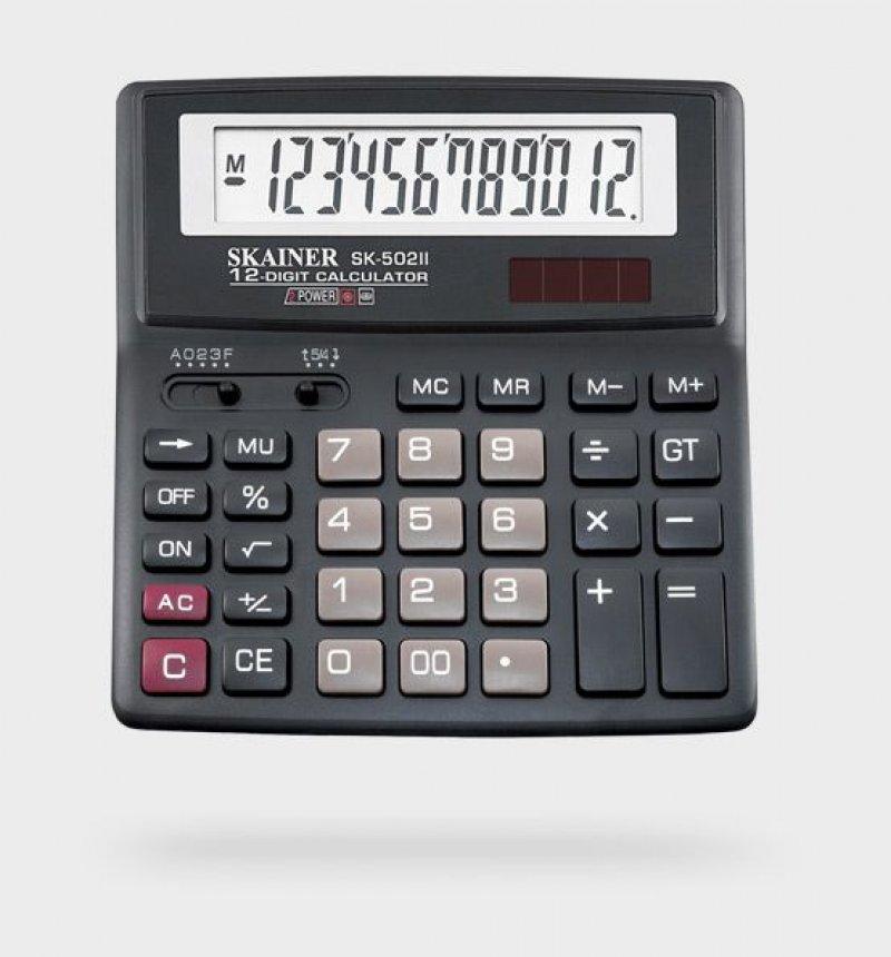 Калькулятор Skainer Electronic SK-502II 156х157мм 12 разр
