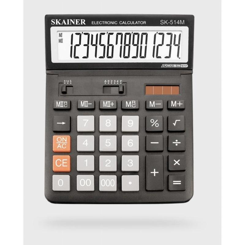 Калькулятор Skainer Electronic SK-514М 146х197мм 14 разр