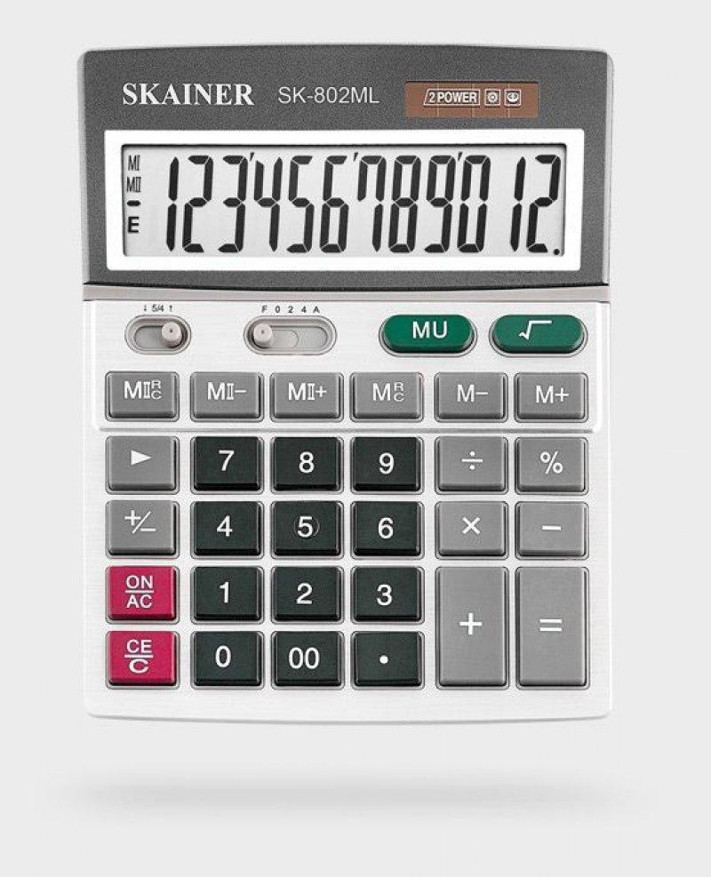 Калькулятор Skainer Electronic SK-802ML 140х176мм 12 разр