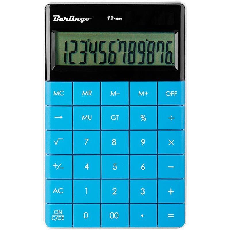 Калькулятор Berlingo CIG_100 165х105мм 12 разр синий