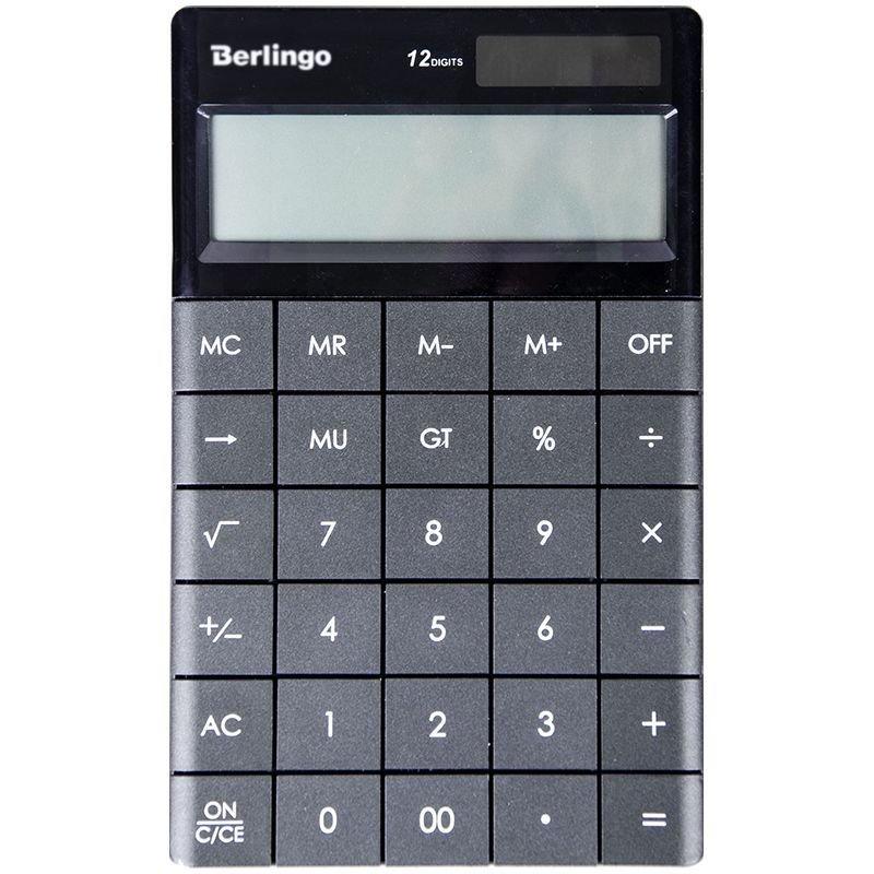 Калькулятор Berlingo CIG_100 165х105мм 12 разр черный