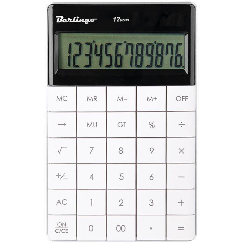 Калькулятор Berlingo CIG_100 165х105мм 12 разр белый