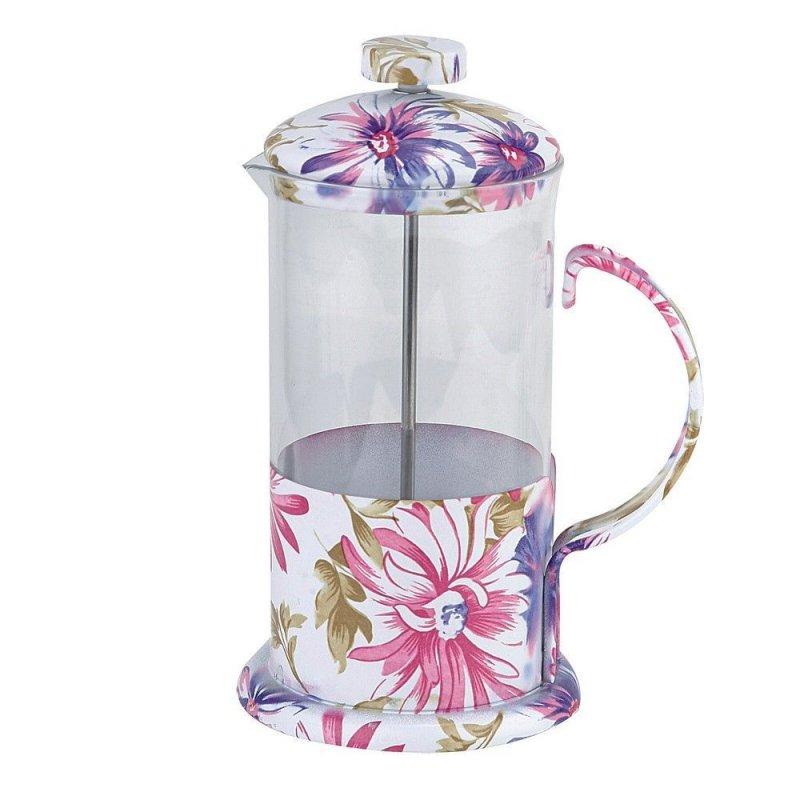 Чайник заварочный 350мл френч-пресс стекло