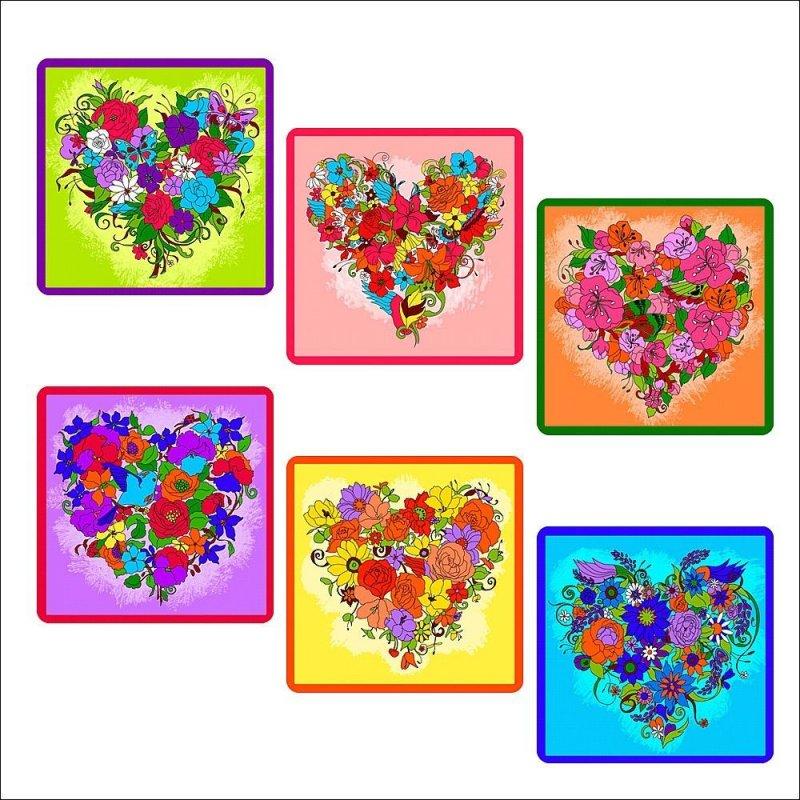 Прихватка 17х17см Цветочное сердце