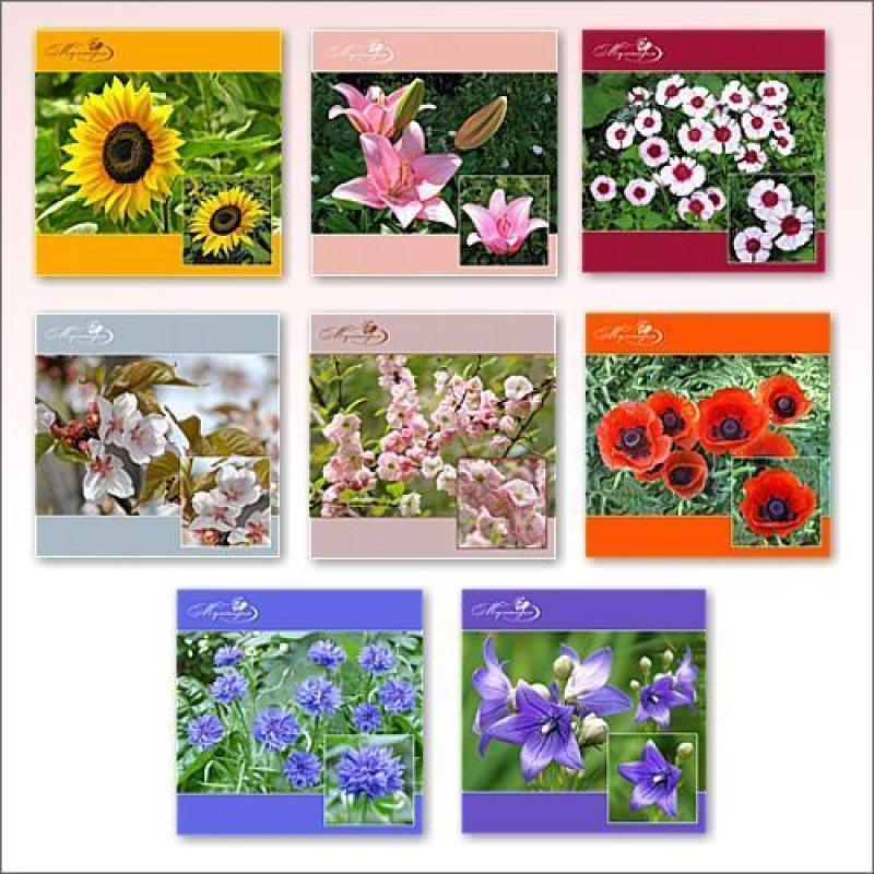 Салфетка 31x31см Цветы фото