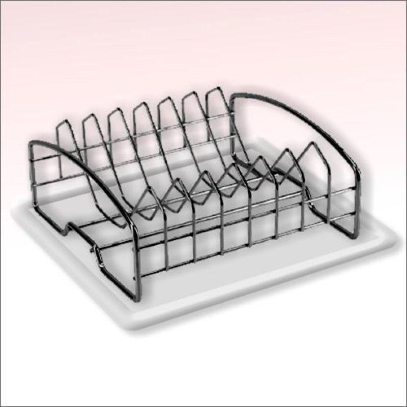 Сушилка для посуды 33см хром с поддоном
