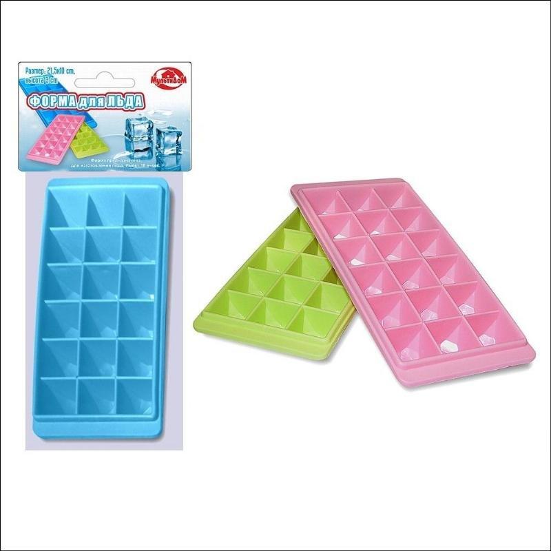 Форма для льда 21,5х10х3см пластик