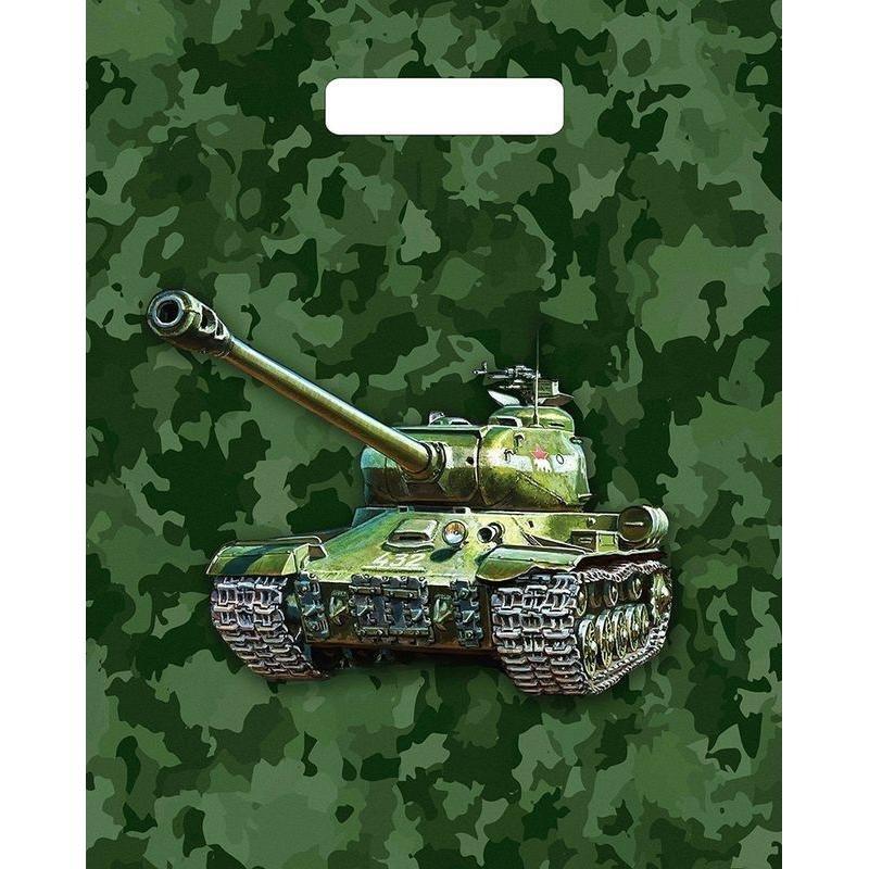Пакет прорезн ручка 31х40см 60мкм Малахит Танк/Калейдоскоп колор