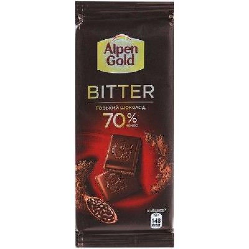 Шоколад Alpen Gold горький темный ассорти 85г