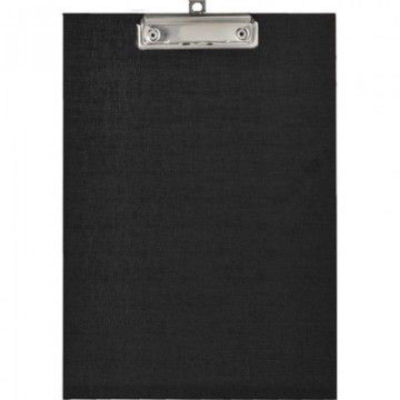 Папка-планшет с зажимом А4 Attache плотный картон черный