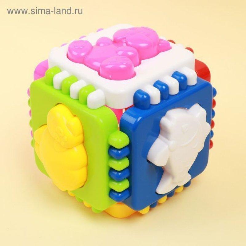 Куб логический Веселые зверята