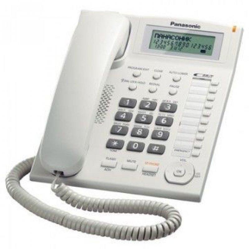 Телефон Panasonic KX-TS2388RUW белый ЖК-дисплей 50 номеров