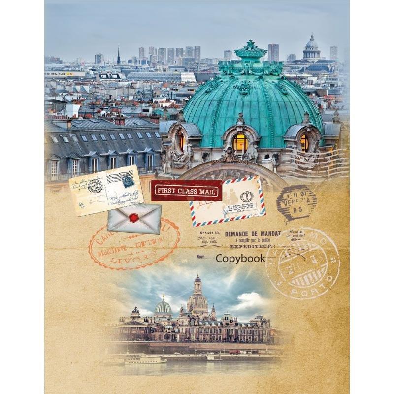 Тетрадь на кольцах со сменным блоком 120л А5 Панорама Венеции