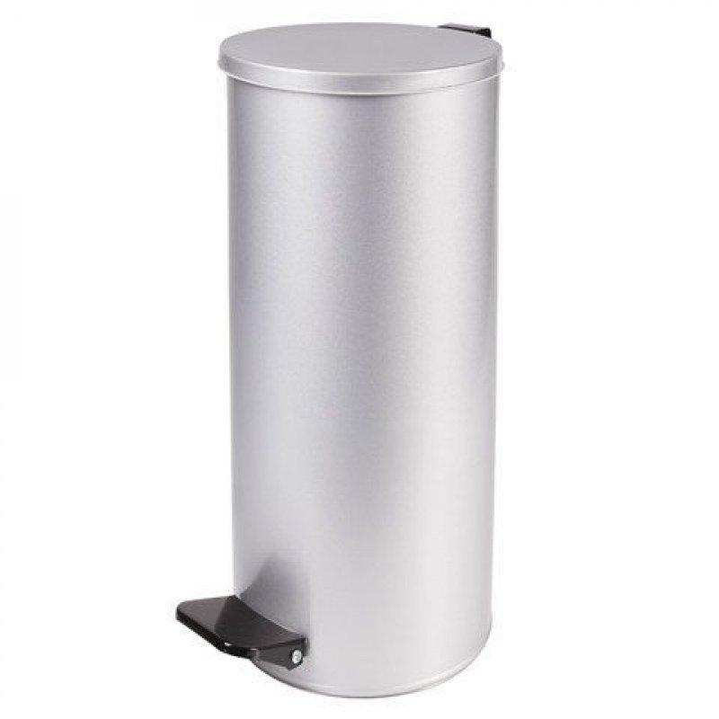 Контейнер для мусора 50л оцинкованная сталь Универсальное педаль серый кольцо под мешок