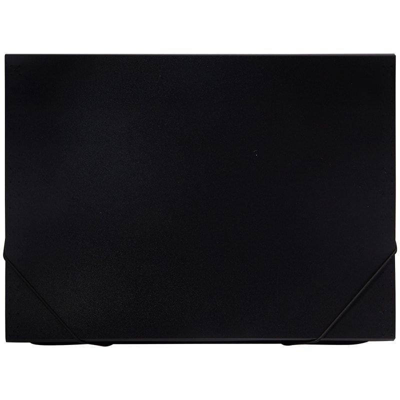 Папка на резинках OfficeSpace А4 0,5мм 13 отделений черная