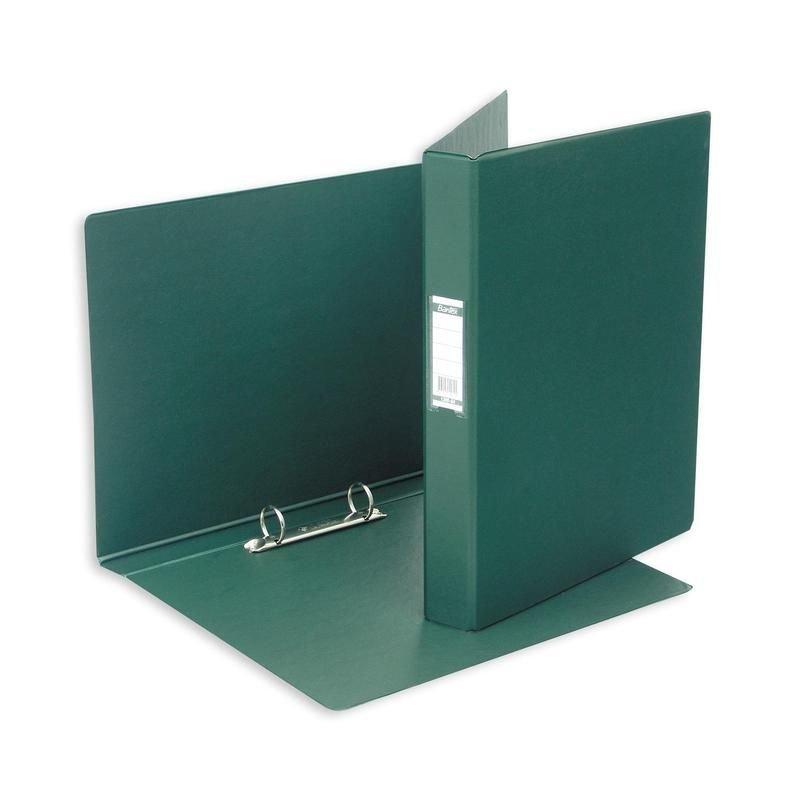 Папка на 2-х кольцах картон/ПВХ 35мм Bantex темно-зеленая